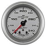 Auto Meter 7756 Ultra-Lite Pro II 2-5/8'' 100-340 Degree F Full Sweep Electric Oil Temperature Gauge