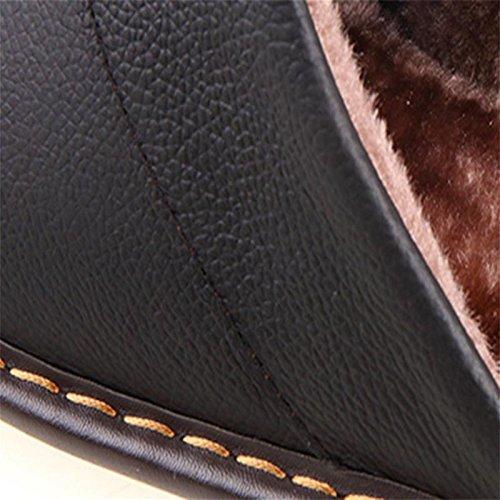 cálida invierno zapatillas amp;XY algodón de de usan coche sisal cuero del W caseros hombres imitación tendón 43 de de zapatos qEXRIxw