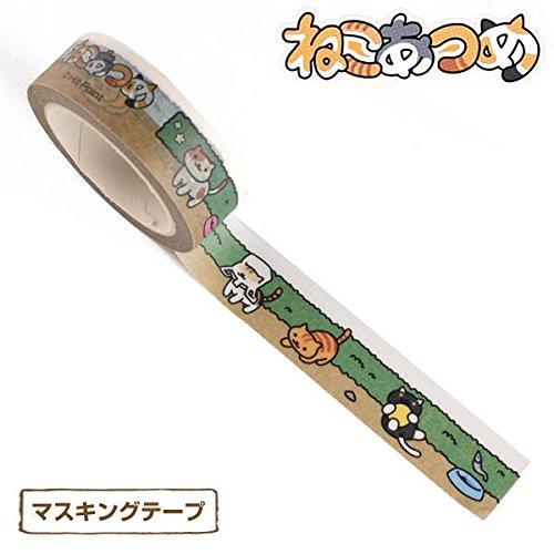 Neko Atsume Decorative Tape (Garden) by Morimoto Sangyo Co., Ltd.