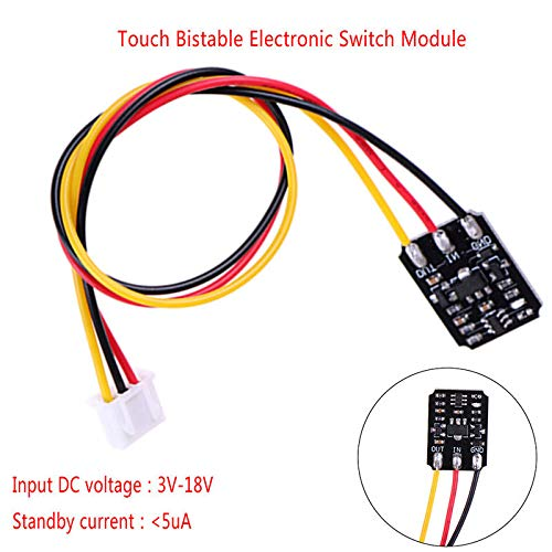 1pc Mini DC 3V-18V 12V 2A Touch Switch Capacitive Touch Bistable Electronic  Switch Module LED Relay 5v for Acrylic Glass Ceramic: Amazon.com:  Industrial & ScientificAmazon.com
