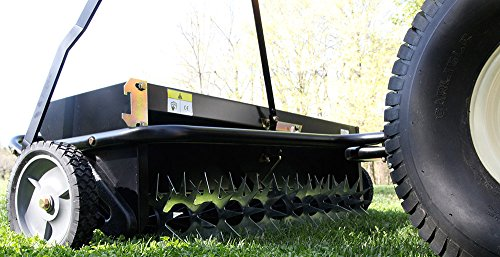 Aerator And Seeder : Brinly as bh tow behind combination aerator spreader