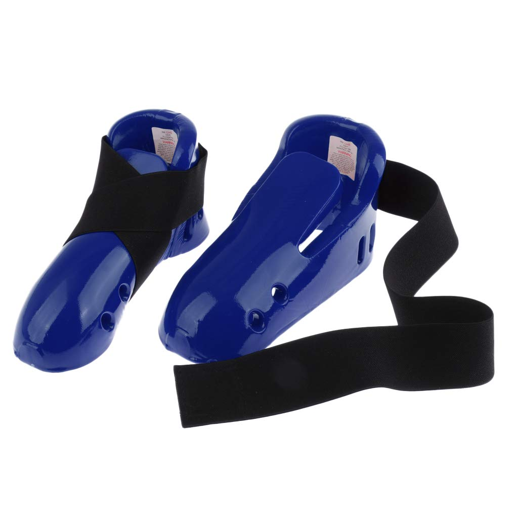 B Baosity Kid Taekwondo Foot Guard Protector Karate Sparring Foot Gear Shoes with Elastic Strap