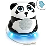 GOgroove Portable Multimedia Speaker with High-Excursion Driver and Panda Design - Works With Apple iPhone 6s , Samsung Galaxy Note 5 , LG G4 & more SmartphonesIncludes Cleaning Cloth