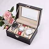 Best Jewelry For 3s - Revesun Watch Display Case Box PU Leather 3 Review