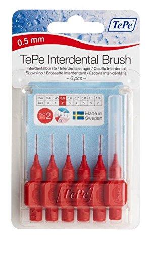 TePe Interdental Brush Red 0.5mm Pack of 6 Molar Ltd 2430098