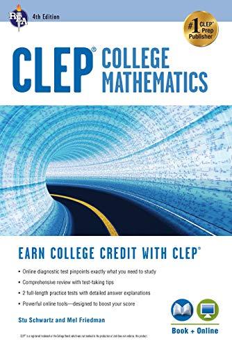 Pdf Test Preparation CLEP® College Mathematics, 4th Ed., Book + Online (CLEP Test Preparation)