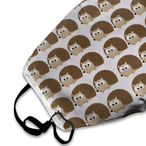 SGHGSAxbh Cute Hedgehog Pattern Face Mask Dust Mask Anti Pollution Face Mask Washable Cotton Mouth Mask Men and Women for All Ages