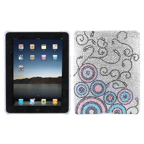 Asmyna Back Protector Cover for iPad, Bubble Flow Diamante (IPADHPCBKDM127WP) -