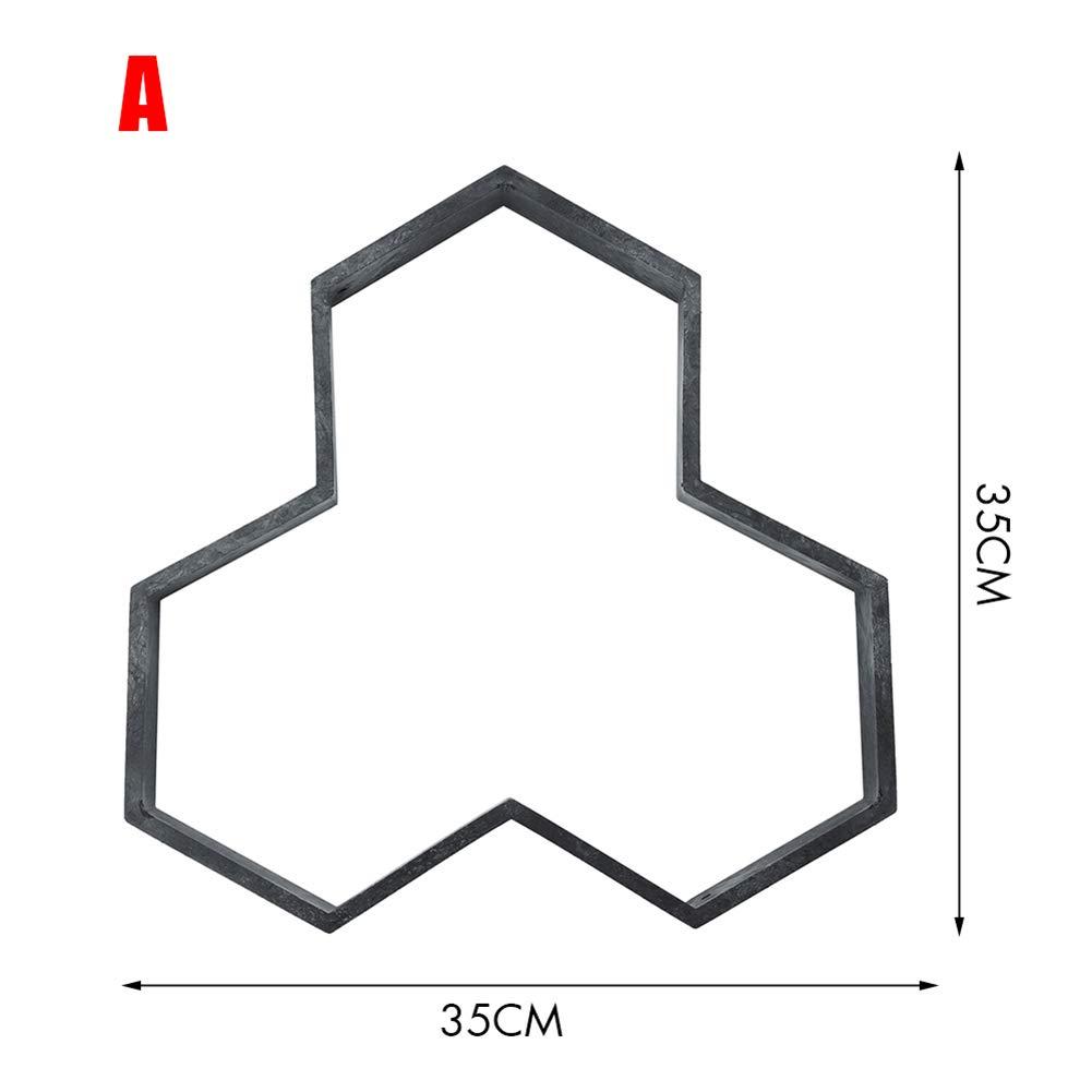 Crewell Garden DIY - Molde de Cemento para Manualidades, plástico, Modelo de pavimento de hormigón, A: Amazon.es: Hogar