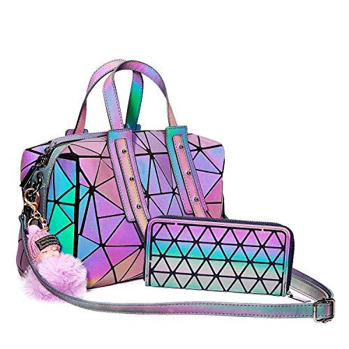 Amazon.com: Harlermoon Bolso Geométrico Luminoso Mujer Bolso ...