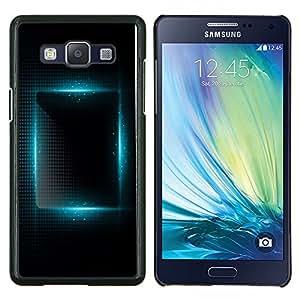 TECHCASE---Cubierta de la caja de protección para la piel dura ** Samsung Galaxy A5 ( A5000 ) 2014 Version ** --luz azul vibrante plaza noche negro