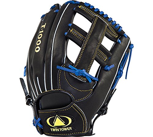 TWIN TOWER High School / Adult Baseball Glove _12''_ In/Outfield_ Cross Patton by TWIN TOWER