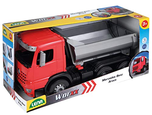 Lena Dump Truck for Toddlers, Fully Functioning Mercedes Benz Dump Truck, 100kg Carrying Capacity ()