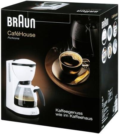 Braun KF 520/1 - Cafetera eléctrica, color blanco: Amazon.es: Hogar