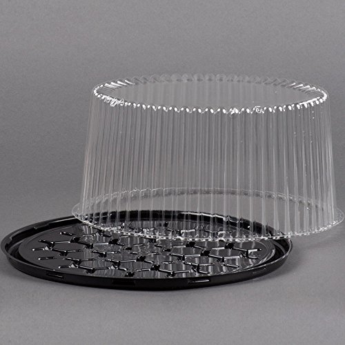 Disposable Cake Tray Carrier Server Display Container Plastic Clear 5 Sets 10 Quot W White Board