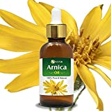 Arnica (Arnica Montana) Therapeutic Essential Oil with dropper by Salvia Amber Bottle 100% Natural Uncut Undiluted Pure Cold Pressed Aromatherapy Premium Oil - 30ML/ 1.1fl oz