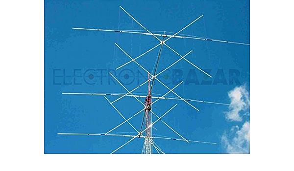 Antena combinada Cubical Quad 4 elementos, 32 x 14/21/28 MHz ...