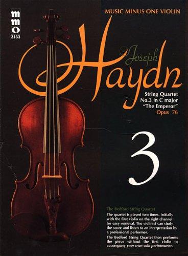 Haydn - String Quartet in C Major, 'Emperor,' Op. 76: Violin Play-Along Pack (Music Minus One (Numbered))
