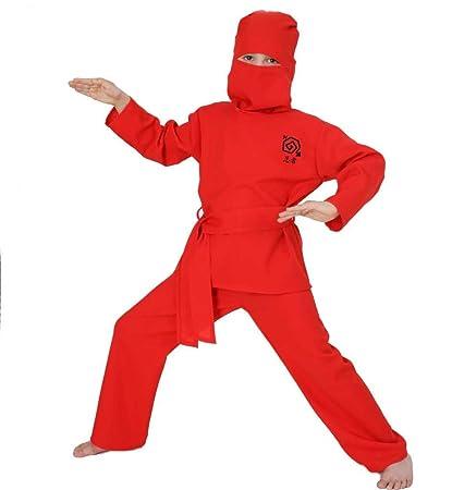 Carnaval 10017 para - disfraz de Ninja Rojo, 4 tlg. NUEVA ...