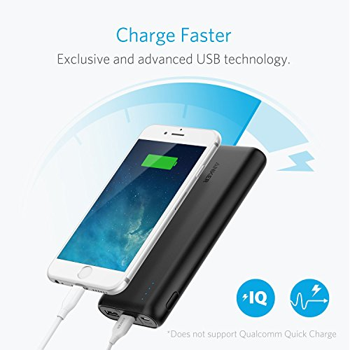 Anker 20100mAh compact Charger PowerCore 20100 particularly great Capacity electrica Bank using 48A outcome PowerIQ engineering for iPhone iPad Samsung Galaxy additional Black Popular selections