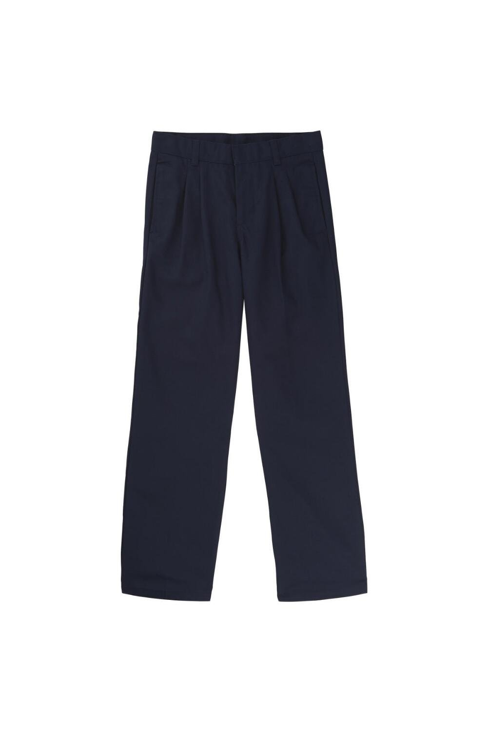 French Toast Big Boys' Relaxed Fit Pleated Pant, Navy, 12