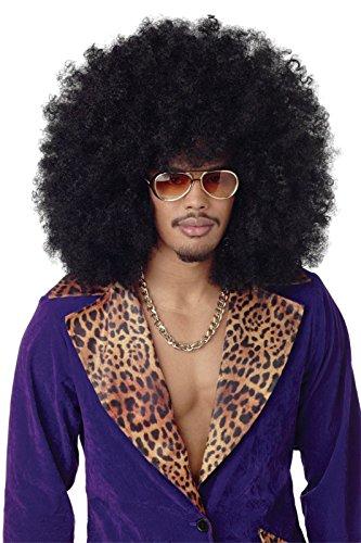California Costumes Men's Super Jumbo Afro Wig,Black,One Size -
