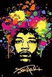 Jimi Hendrix (Face, Splatter) Music Poster Print - 24x36 People People Poster Print, 24x36 Collections Poster Print, 24x36