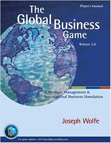 The Global Business Game A Simulation In Strategic Management And International Business Wolfe Joseph 9780324161830 Amazon Com Books