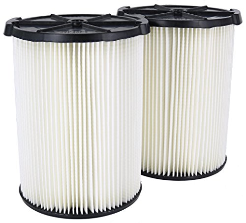 Ridgid VF4200 Genuine Replacement 1-Layer Everyday Dirt Wet/Dry Vac Filter for Ridgid 5-20 Gallon Vacuums (2 pack VF4000)