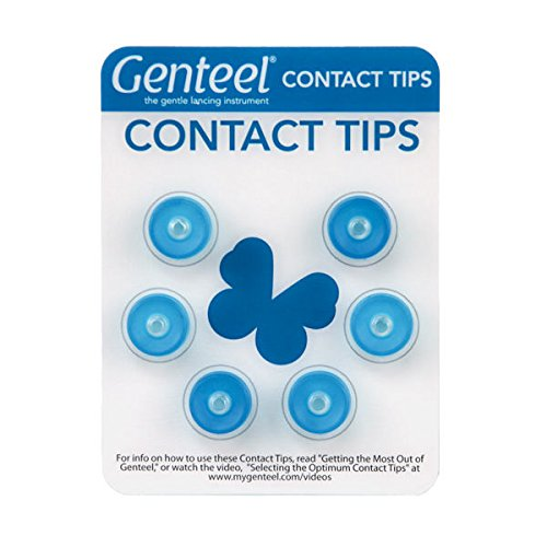 Genteel Replacement Contact Tips (6 Pack) (Blue)