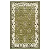 Superior Stratton Collection Area Rug, 8mm Pile Height with Jute Backing, Luxurious French Traditional Aubusson Rug Design, Fashionable and Affordable Woven Rugs - 4' x 6' Rug
