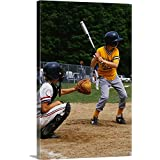 "Premium Thick-Wrap Canvas Wall Art Print Entitled Little League Baseball 12""x18"""