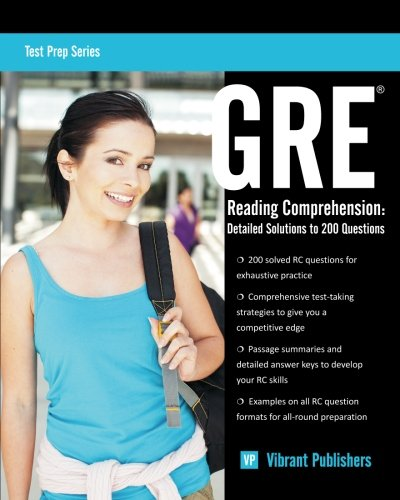 GRE Reading Comprehension: Detailed Solutions to 200 Questions (Paperback)-cover