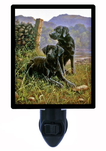 Dog Night Light, Black Labs, Labrador Retriever (Labrador Light Night)
