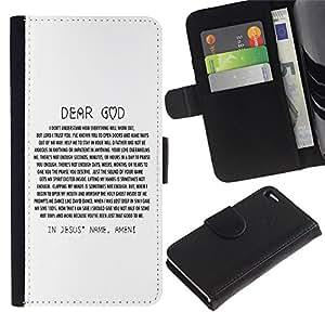 All Phone Most Case / Oferta Especial Cáscara Funda de cuero Monedero Cubierta de proteccion Caso / Wallet Case for Apple Iphone 4 / 4S // BIBLE Dear God