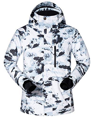 Men's Ski Jacket Outdoor Waterproof Windproof Coat Snowboard Mountain Rain Jacket SJM016 Mountains US S