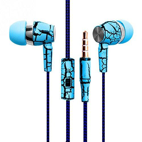 Zipper earphone Super Bass in-ear (blue) - 4