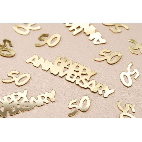 Confetti 14g Pack - Bulk Buy: Darice DIY Crafts 50th Anniversary Confetti Gold 14 grams (6-Pack) V1630-50