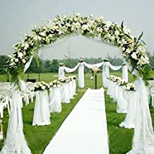 Fabric tulle bolt, Solid Chiffon for The wedding Home decoration Banquet hall Sheer Organza (White)