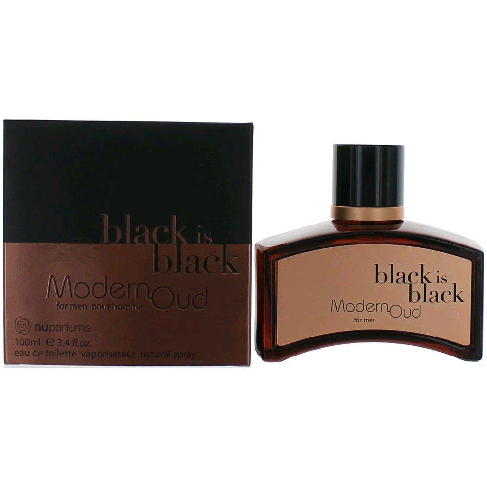 Nuparfums Group Black is Black Modern Oud Eau de Toilette, 3.4 Ounce