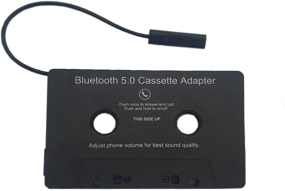 Euopat Car Bluetooth Audio Cassette, Universal Car Cassette Adapter To Aux Adapter para Smartphones Cassette Adapter Car Batería incorporada