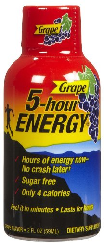 Energy Grape Flavor (5 Hour Energy Shot, Grape, 2 Fl Oz , 24 Count)
