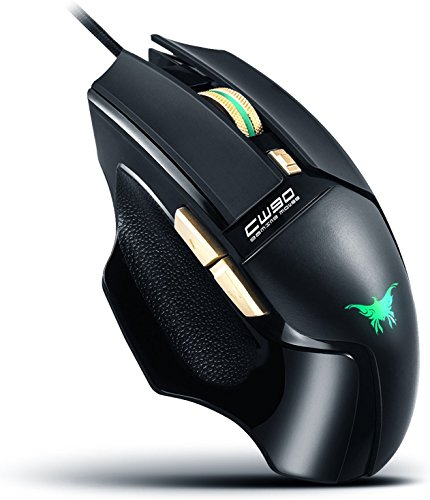Cw90 Fps Usb Optical Gaming Mouse Wired Pc Computer Laptop Mac Game Mice With Colorful Led  4 Dpi Adjustment Levels   Max 3800 Dpi  6 Buttons With Quick Thumb Switches  Ergonomic Slim Design  Black