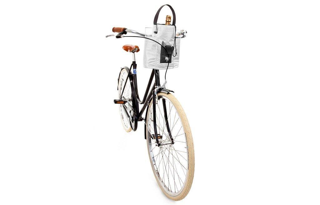 Cool & Convenient Lady Carrier Black & White Bottle Holder Bike Bag
