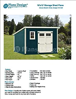 Classic Outdoor Structures Storage Shed Plans 16' x 20' Reverse