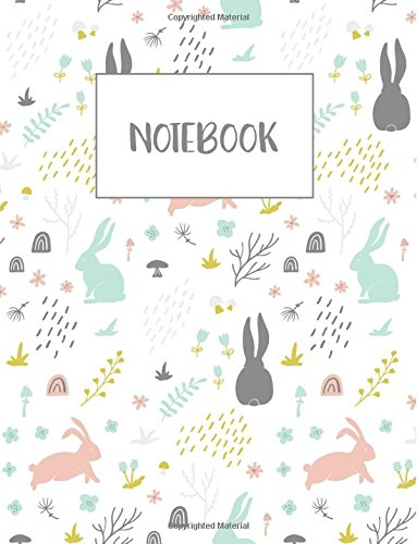 Bunny Journal (Notebook: Bunny Forest Floral Notebook 100 pages (Composition Book Journal) (8.5
