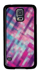 Samsung Galaxy S5 patterns abstract pink parallax 111 PC Custom Samsung Galaxy S5 Case Cover Black