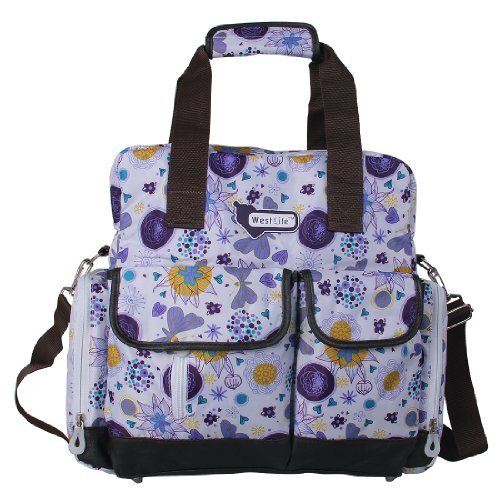 ECOSUSI Diaper Backpack Shoulder Purple product image