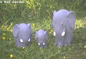 ELEPHANT FAMILY SET OF 3 GARDEN ORNAMENTS FREE PP Amazonco