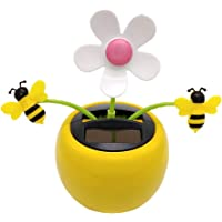 lahomia Solar Powered Dancing Swing Honey Bee Doll Home Car Ornament